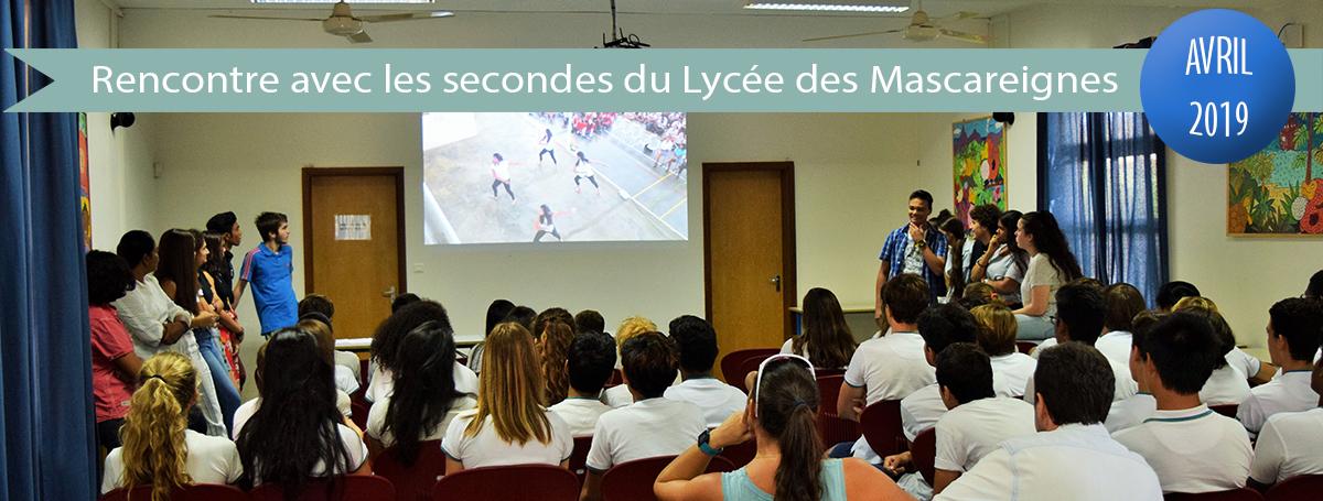 diaporama-actu-2018-2019Rencontre avec les secondes du LycEe des Mascareignes
