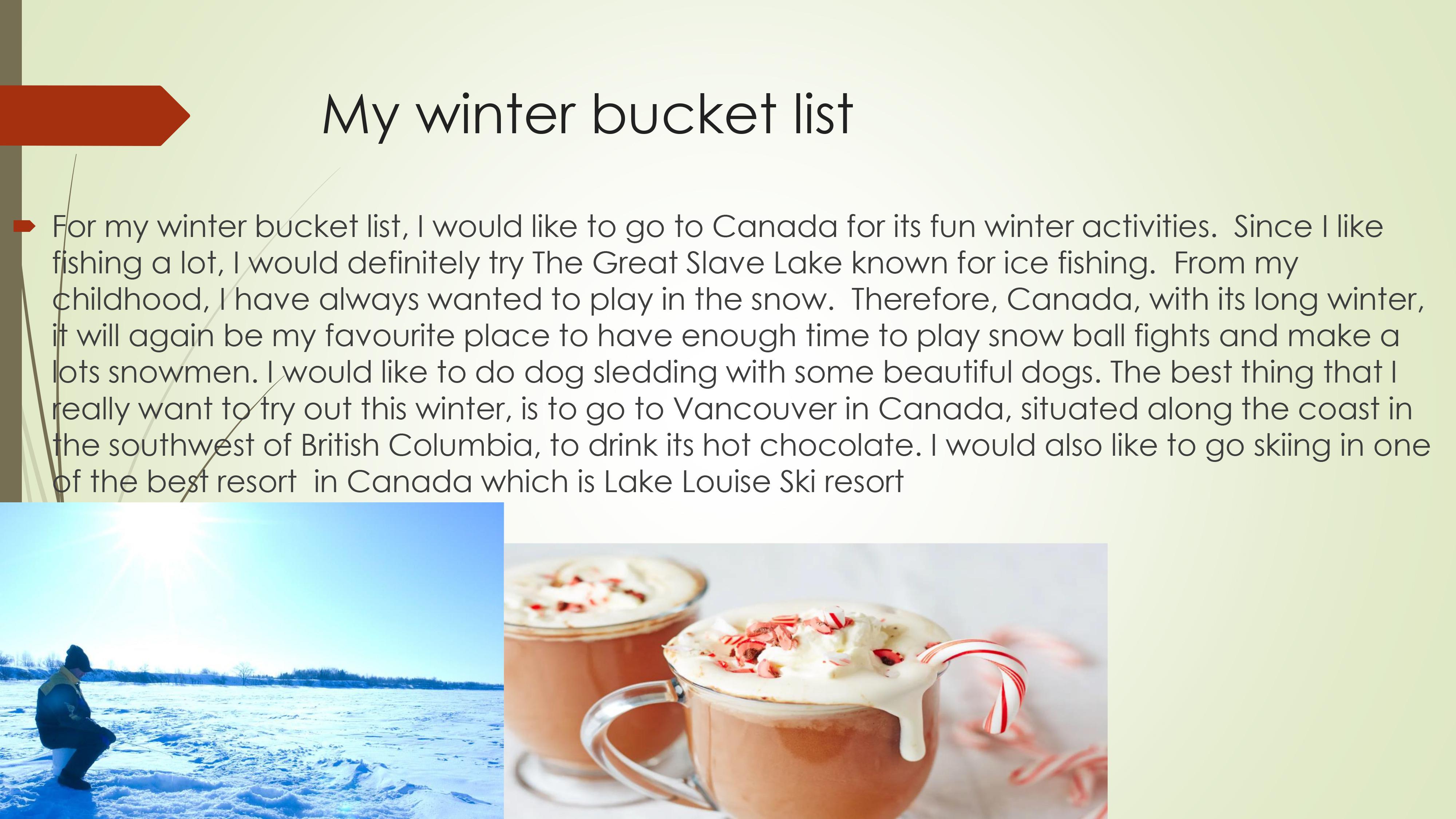 My scrapbook bucket list